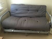 Black double sofa bed