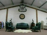 Original Parker Knoll Leather Suite (Olive Green)