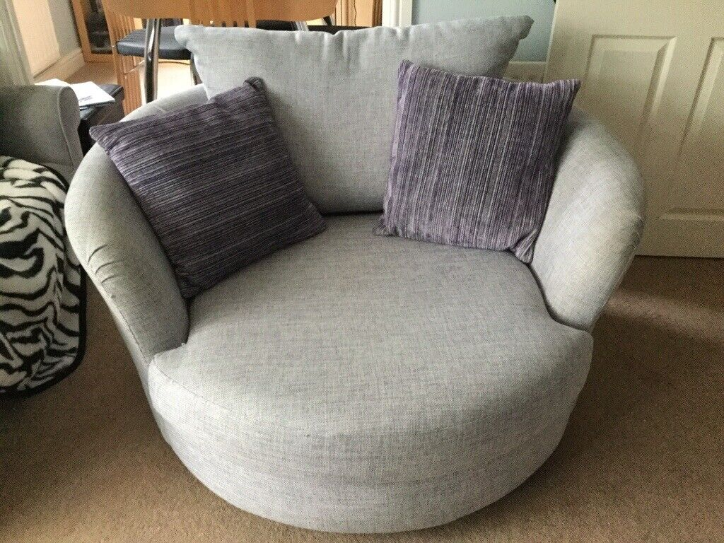 Swell Barker Stonehouse Swivel Cuddle Chair Pale Purple Grey Colour Good Condition In York North Yorkshire Gumtree Cjindustries Chair Design For Home Cjindustriesco