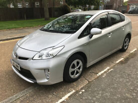 toyota prius electric hybrid 2012 silver 5 doors low mileage pco ready
