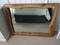 Large handmade solid Oak mirror