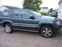 Grand Jeep Cherokee Overland 2.7 2004 auto repair or spares