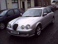 2001 51 JAGUAR S-TYPE 3.0 V6 SE AUTOMATIC ** ONLY 71300 MILES ** LEATHER INTERIOR **