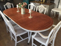 Gorgeous french style dining table with 6 chairs