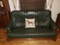 3,1,1 Leather Solid Oak Sofa