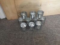 Vintage theme wedding , silver candle holders