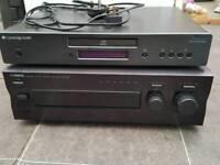Stereo separates Yamaha ax-396 amp and Cambridge audio topaz cd5.