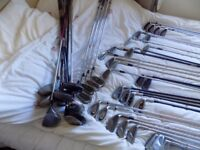 Over 40 Assorted Used Golf Clubs - Price Reduced
