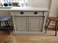 Hand painted Victorian cupboard. Painted furniture. Vintage cupboard.