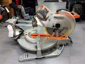Scie à onglets RIDGID 12po coulissante 15A guidage laser ***Excellente Condition***  #P028473