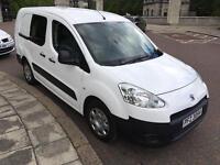 Oct 2013 Peugeot Partner Crew Cab 5 seater van extended body