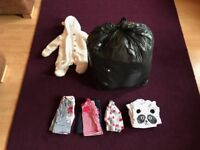 Bag of Baby Girl Clothes (0-3m)