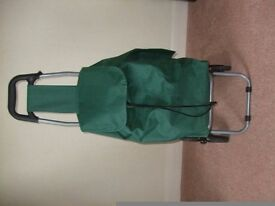 Green shopping trolley as good as new