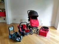Britax B-SMART pram complete Travel System incl baby car seat