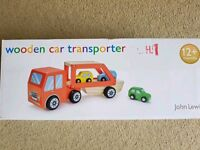 Wooden car transporter from John Lewis