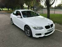 """2010 BMW 320D MSPORT LCI DIESEL WHITE COUPE RED LEATHERS 19"""" 313 ALLOYS TOPSPEC"""