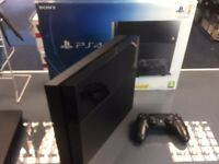used Standard ps4 console - black mat edition - 500gb storage - can be swapped for old gadgets
