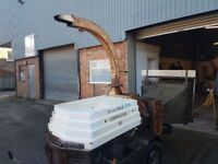 greenmech wood chipper chipmaster 202 road tow