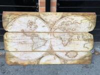 World Map Wooden Wall Art