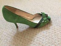 Zara - Green Suede Shoes