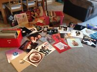 Job lot 150+ Vinyls AND vintage record player with case of old records. Very rare items. Collectable