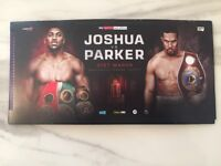 Anthony Joshua Vs Joseph Parker 2 Tickets Floor Block B5 (£ Face value) Delivery anywhere in London