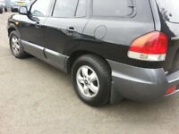 HYUNDAI SANTA FE CDX''2006 REG'' TOW BAR''SUN ROOF''MOT TILL MARCH 2018''METALIC BLACK''