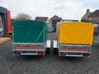 BRAND NEW MODEL 7x4 SINGLE AXLE TRAILER WITH FRAME COVER