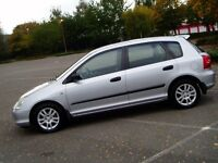 2003 Honda Civic Ispire S 1.6 Vtech. Full 12 Months Mot. Honda Main Dealer Service History. 5 Door.