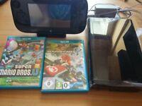 Wii U + Wii Fit U + Balance Board + Remote plus + Nunchuck + Mario Kart + Super Mario Bros U