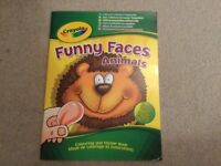 Crayola Funny Faces Animals Colouring & Sticker Activity Book NEW
