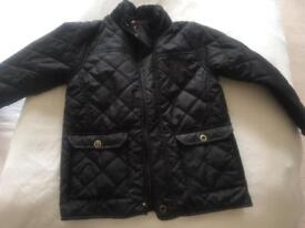 BOYS REGATTA BLACK LIGHTWEIGHT JACKET. 7/8 YEARS. IN EXCELLENT CONDITION.