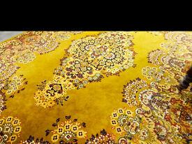 Very large vintage retro wool rug