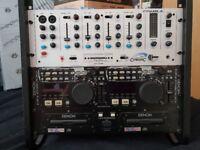 Denon D9000 CD Dual Decks + Rack + Mixer