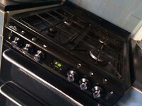 NEW WORLD - Newhome 600TSIDLm Gas Cooker - Black (Collect From London)
