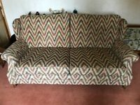 Upholstered Sofa & 2 Armchairs - Excellent Condition