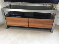Dwell walnut / aluminium TV cabinet