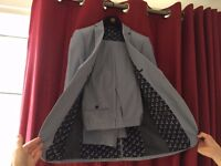 Next Light Blue Skinny Fit Suit Jacket and Trousers
