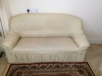 Cream Faux leather Sofas