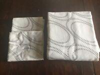 Grey & white double duvet set ( cover & 2 pillow cases)