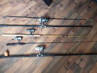 Fishing rods and reels good condition