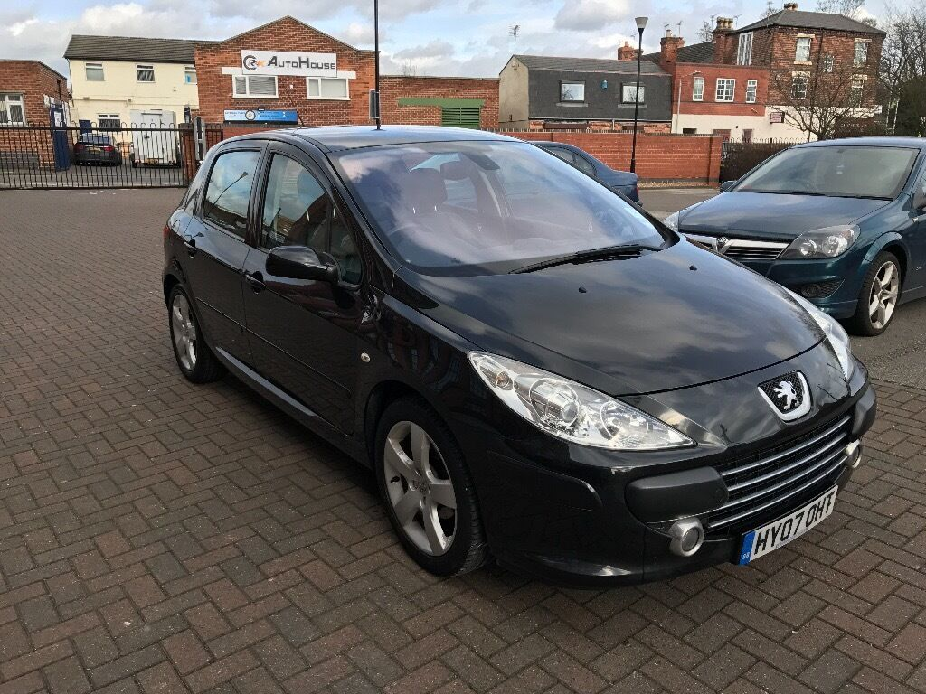 peugeot 307 sport black 2007 83k miles 12 months mot reduced in dunkirk. Black Bedroom Furniture Sets. Home Design Ideas