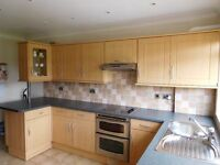 Beech Effect Fitted Kitchen