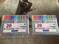 STAEDTLER 20 brilliant colours x 2 PACKS