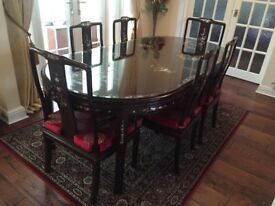 chinese dinning table sits 8 people very good condition
