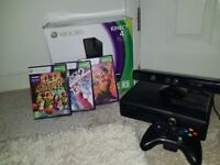 Xbox 360 Kinect 4b with 3 games