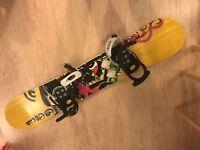 Snowboard Board + Bindings + Wheelie Bag   Complete Kit!