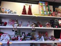 Christmas shop contents over 200+ trees inflatables, lights ornaments, fibre optics