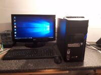 ACER ASPIRE DESKTOP PC QUAD CORE 6GB NVIDIA GRAPHICS MONITORKEYBOARD AND MOUSE ETC