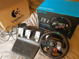 G29 steering wheel and pedals for ps4